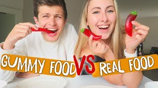GUMMY FOOD vs. REAL FOOD 😱