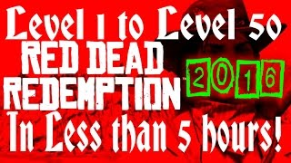 Red Dead Redemption XP Method - LVL 1 - 50 FAST!  2016