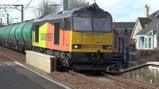 Colas Railfreight 60026 working 6R46 Grangemouth to BP Oil Prestwick Airport - 26-04 - 16