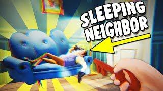 SNEAKING Past the SLEEPING NEIGHBOR To UNLOCK the BASEMENT DOOR! - Hello Neighbor Gameplay - Release
