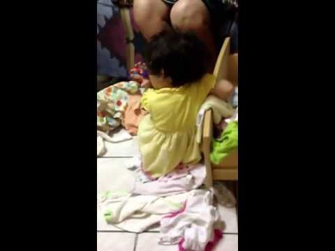Baby Removes Her Clothes From Her Drawer video