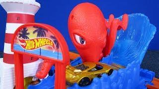 Hot Wheels Octopus Pier Attack Playset 2018 Hot Wheels City #hotwheelscity