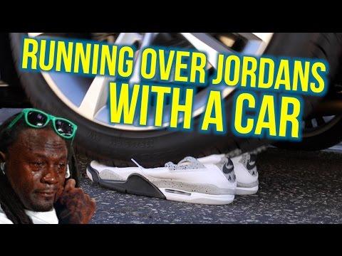 Test nowych Jordanów z samochodem!
