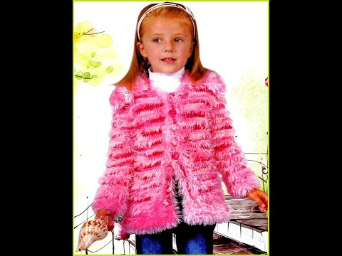 Вязание кардиган для девочки 29