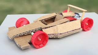 How to Make Amazing F1 Racing Car Out of Cardboard - DIY Mini Electric Car