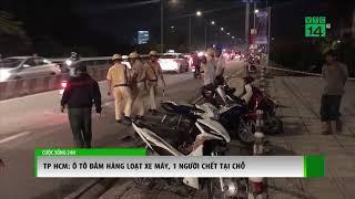 Ô tô đâm hàng loạt xe máy, 1 người chết nhiều người bị thương | VTC14