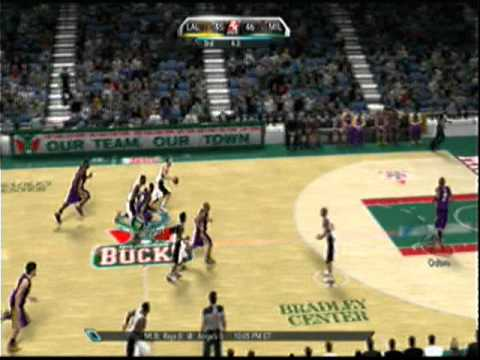 NBA 2k10 - aslamh719 (Lakers) -vs- boltokPwnage (Bux) - 2nd Half Video