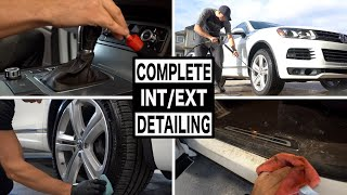 COMPLETE FULL CAR INTERIOR AND EXTERIOR DETAILING | Full Cleaning of a Volkswagen!