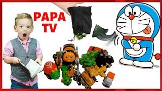 DORAEMON SURPRISE TOYS - 100 Car Toys For Kids From Doreamon Surprise Bag ♥ PaPaTV ♥