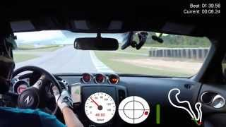 Fast Lap using VBOX Sport at Atlanta Motorsports Park (AMP) - Stock 370Z