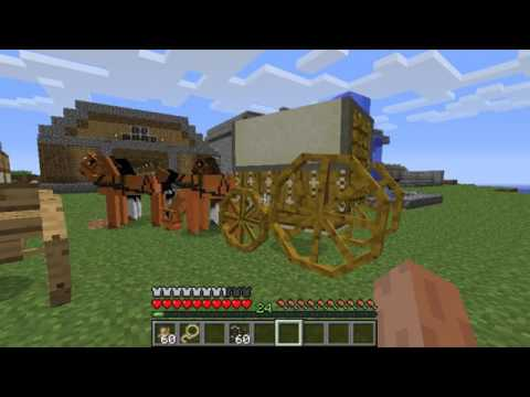 Minecraft Simply Horses Mod Review/Installation  2017