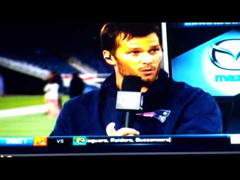 Tom Brady interview post game