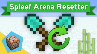 SPLEEF ARENA RESETTER  in Minecraft 1.12 Using Loops | Vanilla Command Block Creation