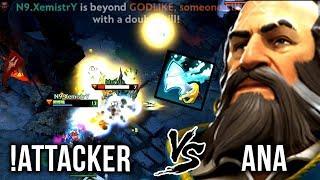 !Attacker vs Ana - Best Kunkka vs New Kunkka Player - EPIC Battle Dota 2
