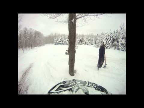 GoPro HD Snowmobiling in Bear Lake MI