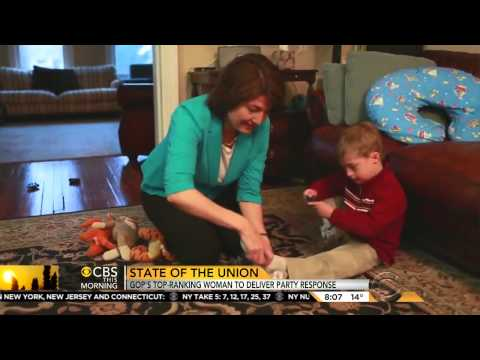 Cathy McMorris Rodgers talks with CBS before the SOTU