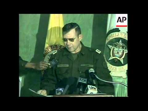 COLOMBIA: BOGOTA:  DRUG TRAFFICKERS ARRESTED