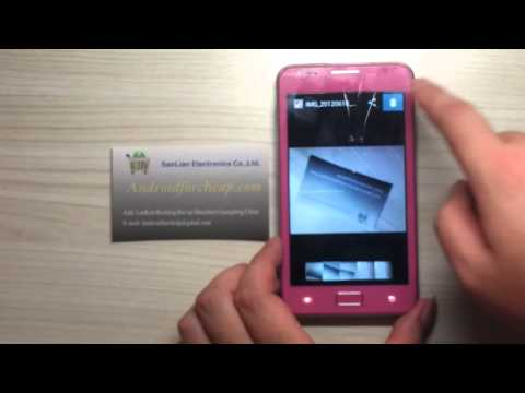 Pink Galaxy Note Clone N8000 MTK6575 Android 4.0 OS 1Ghz Cpu Smart Phone Review