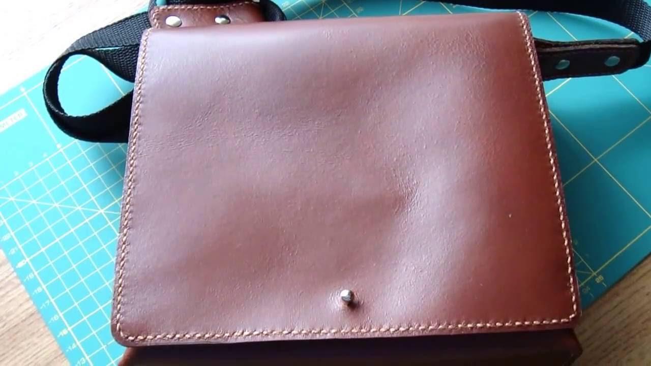 Мужская сумка из натуральной кожи видео 158