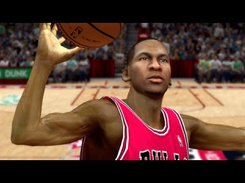 NBA 2k13 Dunk Contest : Michael Jordan Takes Off From The Free Throw Line