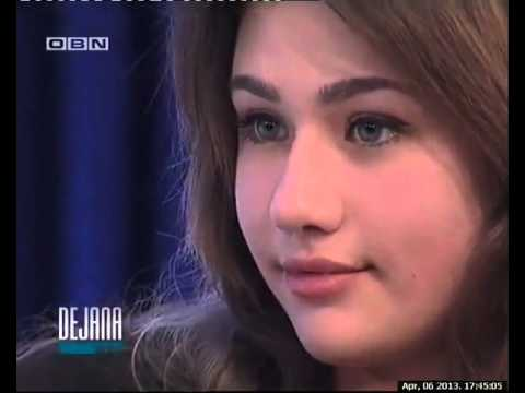 NAOMI DRUSKIC, 14 YEARS OLD ,OBN TV, LITTLE GENIUS , DEJANA TALK SHOW