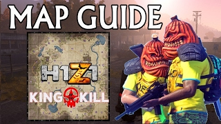 H1Z1 King of The Kill | HOW TO USE THE MAP | Beginners Guide