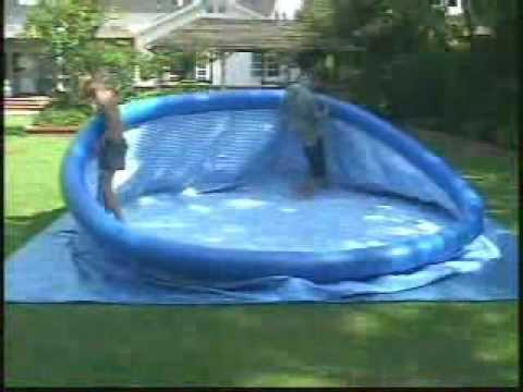 Installer une piscine autoportante intex easy set youtube for Bache piscine intex