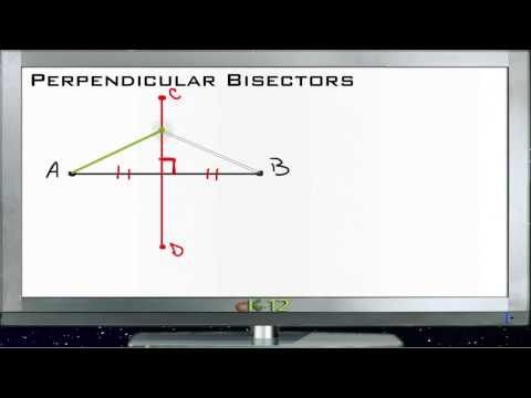 Perpendicular Bisectors Principles - Basic
