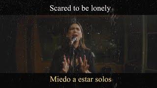 Martin Garrix & Dua Lipa - Scared To Be Lonely (Acoustic) LYRIC VIDEO - Traducido A Español