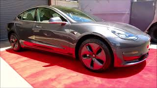 2018 Telsa Model 3 Midnight Silver Metallic -  CQuartz Finest Reserve Ceramic Coating