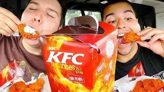 KFC Flamin' Hot Spicy Chicken • Car Eating Show • MUKBANG