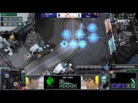 [0520] TY(8th) vs. Zest(KT) TvP 2SET Korhal Floating Island -Starcraft2,esportstv,SPL
