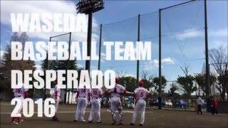 早稲田大学軟式野球サークルDESPERADO 新歓PV 2016