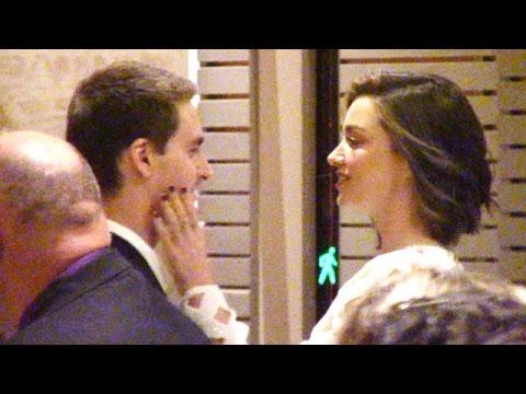 Miranda Kerr And Evan Spiegel Show Valentine's PDA At Clive Davis' Grammys Party