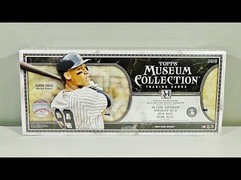 2018 Topps Museum Collection Baseball Hobby Box Break! Nice!
