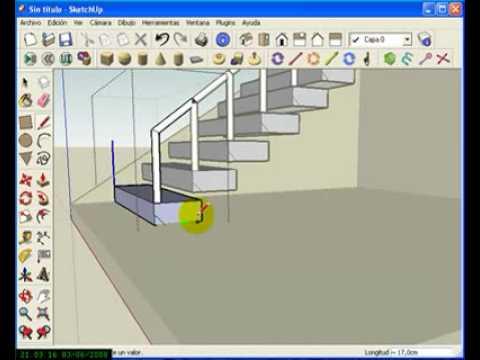 Escalera recta y de caracol por pedro youtube - Como se hacen escaleras de madera ...