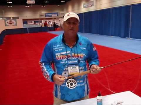 ICAST 2009 Demo of Line and Lure and Fetha Styx fly rod with a Nautlius fly reel