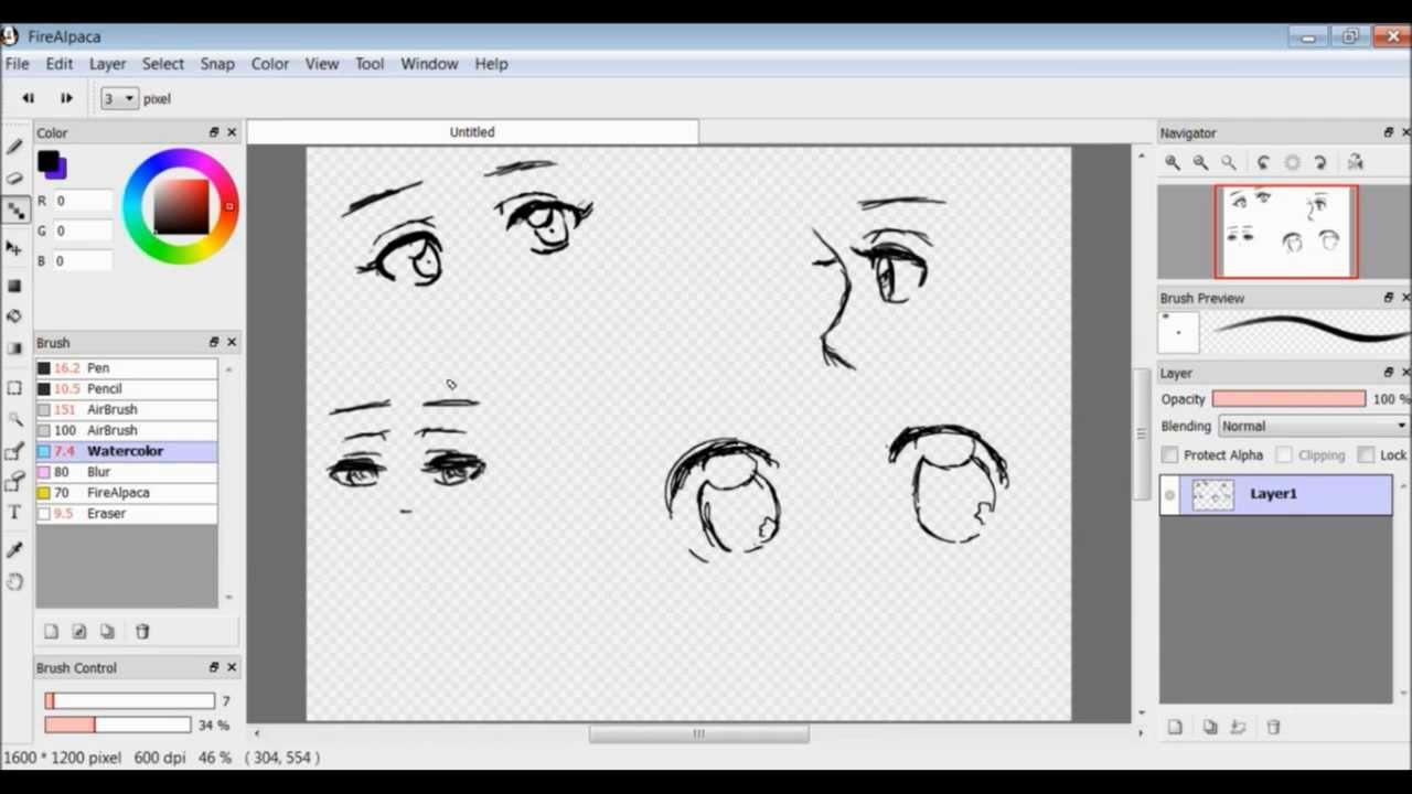 anime eyes sketch tutorial