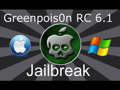 GreenPoison R C6.1 4.2.1 Untethered Jailbreak iPhone 4, 3Gs iPod Touch, iPad & Apple Tv2 MAC