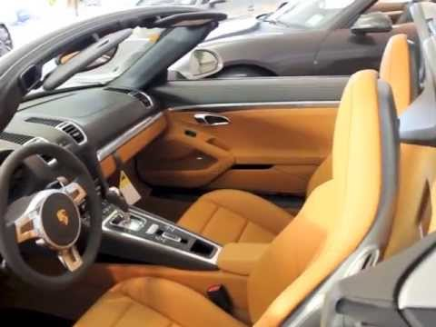 2013 porsche 981 boxster 981 platinium silver on agate amber orange youtube. Black Bedroom Furniture Sets. Home Design Ideas