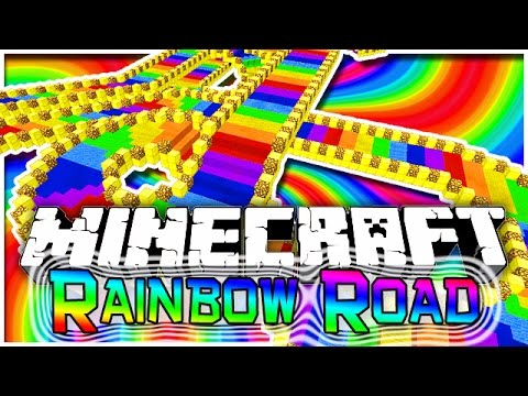 Minecraft: EXTREME Rainbow Road Parkour 2! Fun Challenging Parkour Mini-Game!