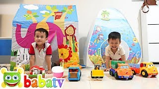 Be Duc and Su Hao build Playhouses for children