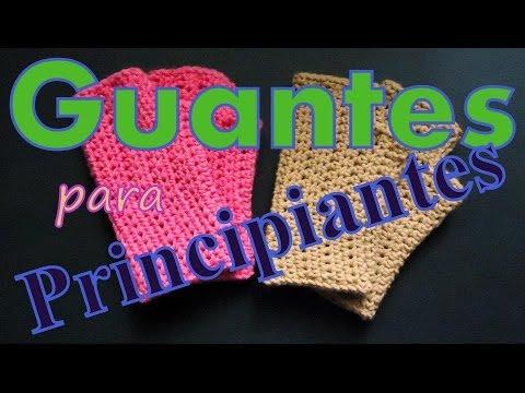 Cómo tejer guantes calentitos al ganchillo (crochet fingerless gloves) -tejido para zurdos-