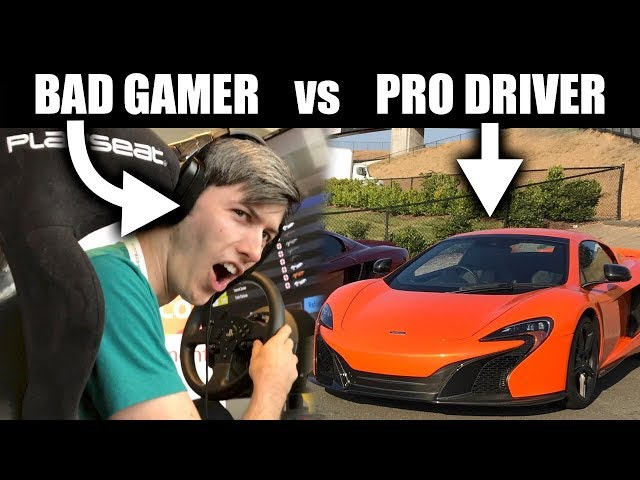 Can A Bad Gamer Beat A Professional Driver?