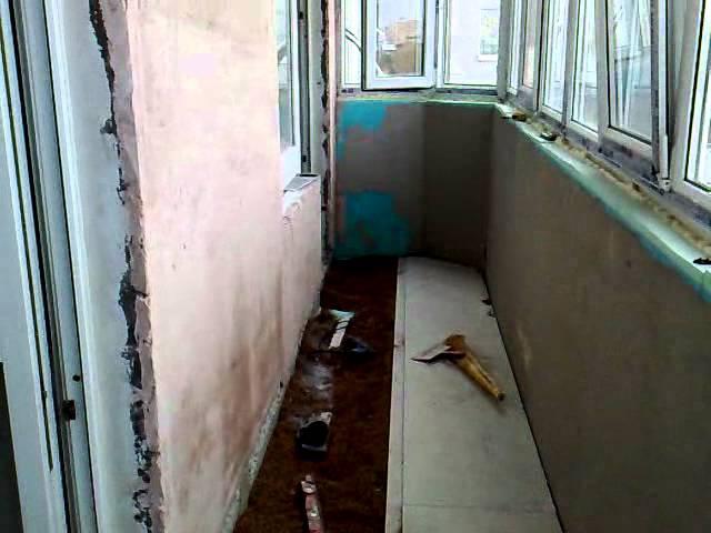 Видеоролик - отделка и утепление балкона.