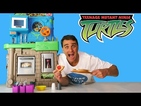 Teenage Mutant Ninja Turtles Pizza Kitchen !    Toy Reviews    Konas2002