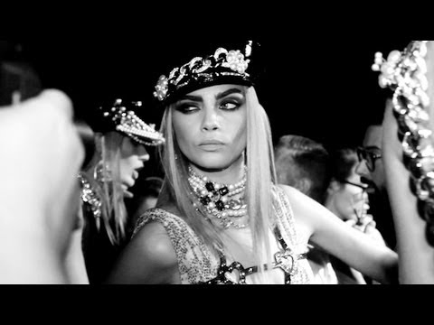 DSQUARED2 SPRING 2013 ft CARA DELVINGNE BACKSTAGE  | MODTV