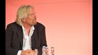 Richard Branson speaking at the London Business Forum in 2008