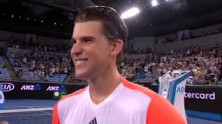 Thiem R2 on court interview - not sure where he is in the draw
