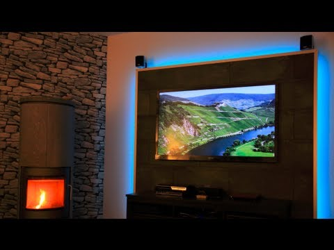 Build a tv led wall youtube for Wohnzimmer tv wand
